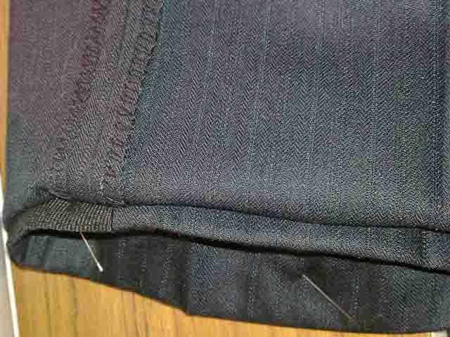 потайной шов на брюках