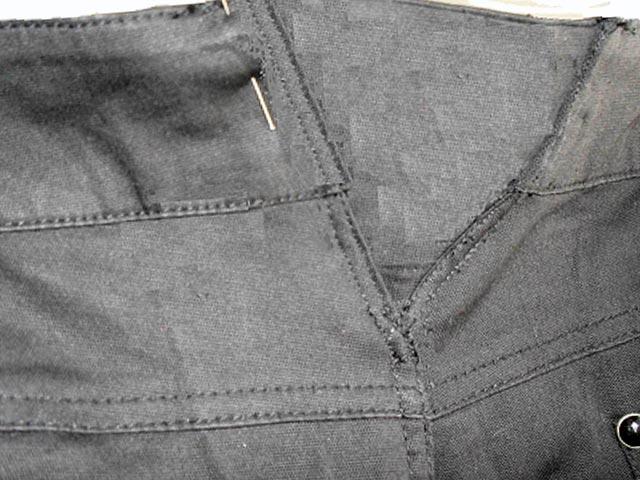 Треугольные вставки в брюки
