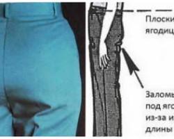 Дефекты посадки брюк – почему получаются?