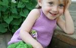Вяжем топ и шорты для девочки на лето