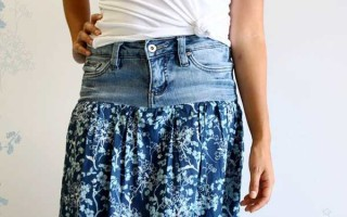 Как сделать юбку из шорт