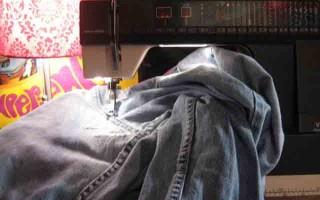 Как зашить джинсы – полезные советы к распространенным проблемам