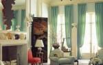 Современные шторы для гостиной: дизайн 2015