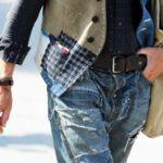 зашить джинсы красиво