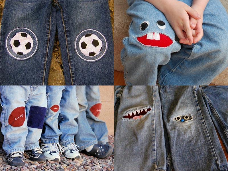 Заплатки на детских брюках