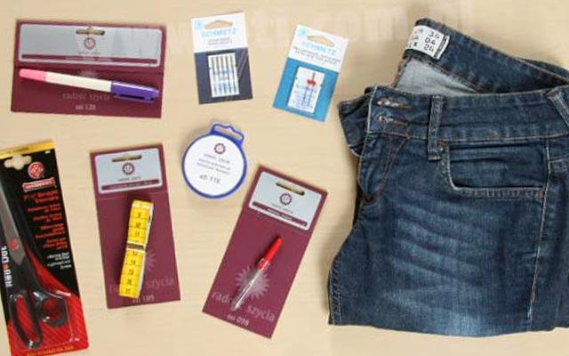 инструменты для ушивания джинсов