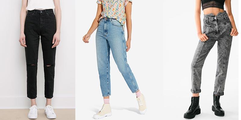 Мom-джинсы