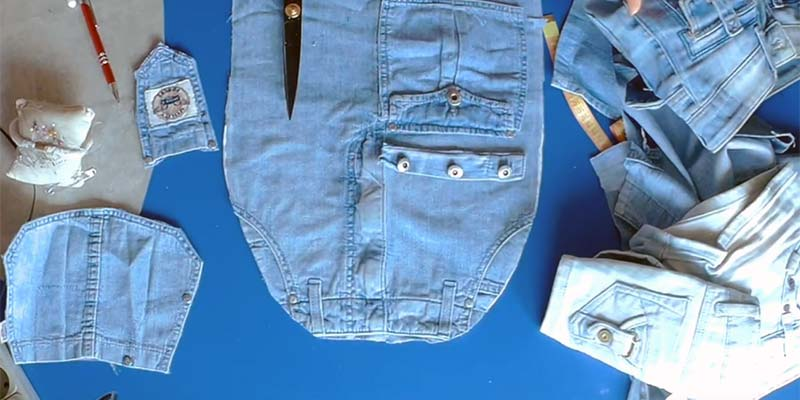 Шьем рюкзак из старых джинс