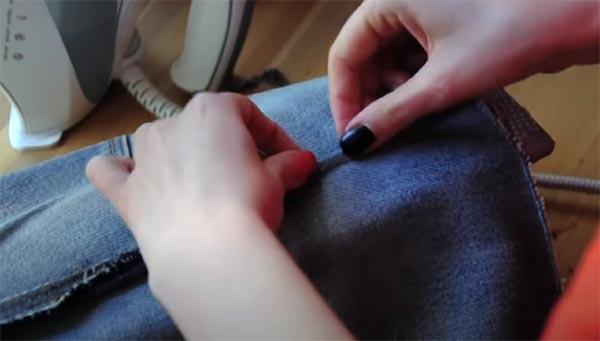 как ушить юбку по бокам