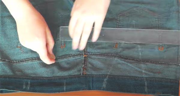 как ушить юбку в поясе