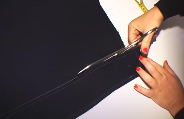 Выкраивание пояса для юбки-карандаш