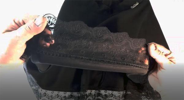 как удлинить юбку кружевом